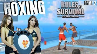 BOXING | FUNNY | Rules Of Survival | Red vs Blue | GAME 2