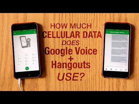 How Much Cellular Data Does Google Voice and Hangouts Use?