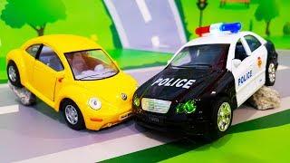 Мультики про машинки. Полицейские рабочие машинки и отважный Валера. Мультфильмы все серии подряд