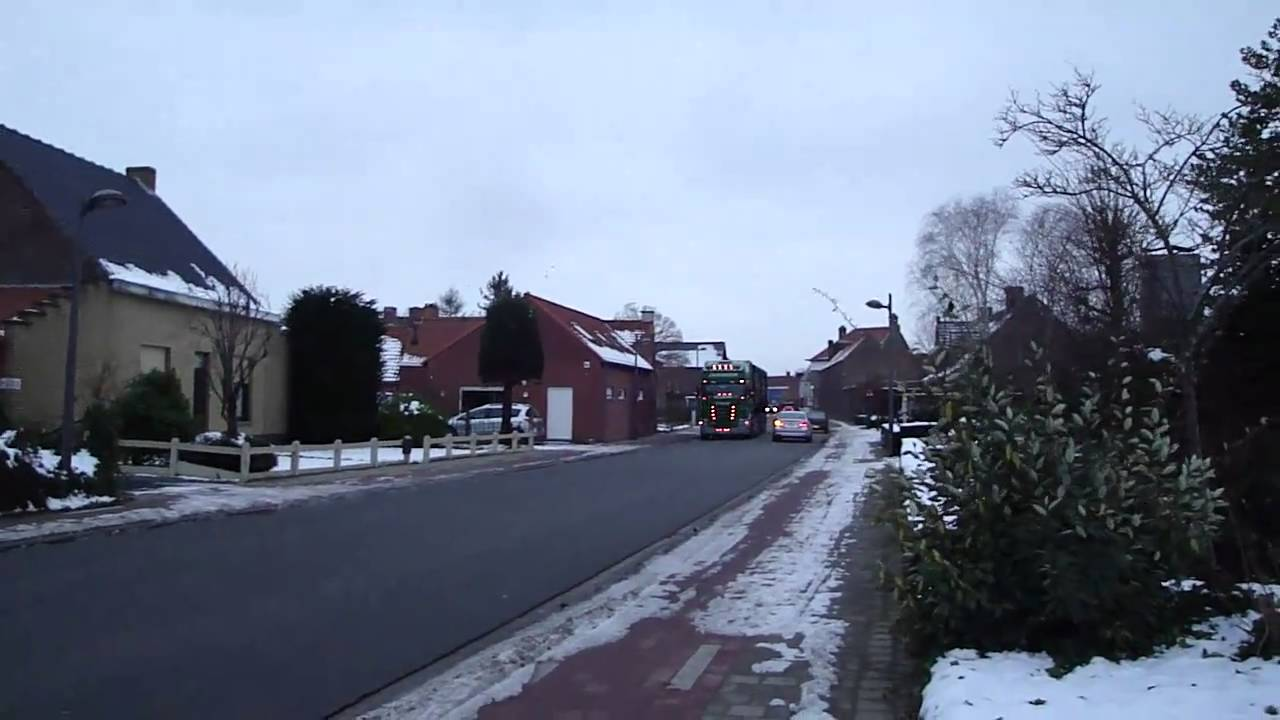 Transport Scherrens in de sneeuw