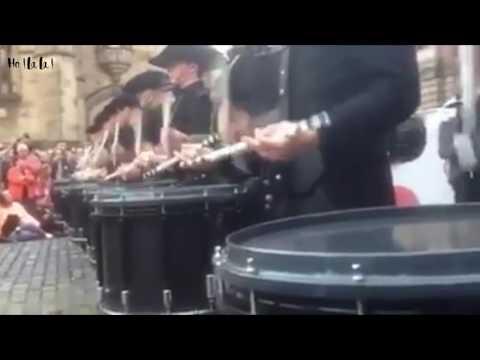 Fanfare de tambourin et tambours en suisse