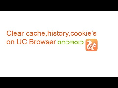 Clear Cache, History and Cookie's  on UC Browser Android