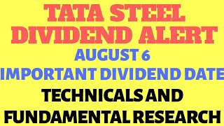Tata steel share dividend date | Share price, fundamental and technical update