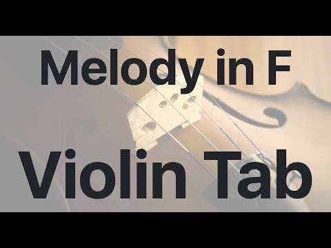 Learn Melody in F on Violin - How to Play Tutorial