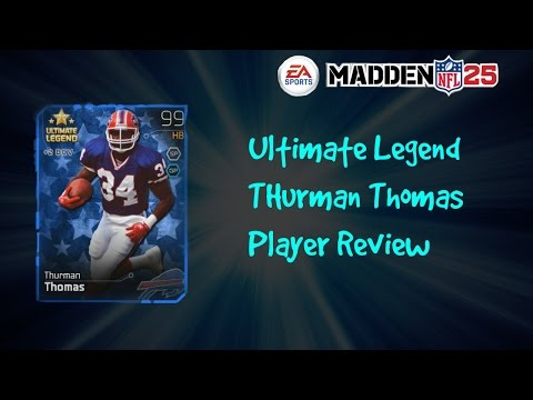 Ultimate Legend Thurman Thomas Player Review | Madden 25 Ultimate Team Next Gen
