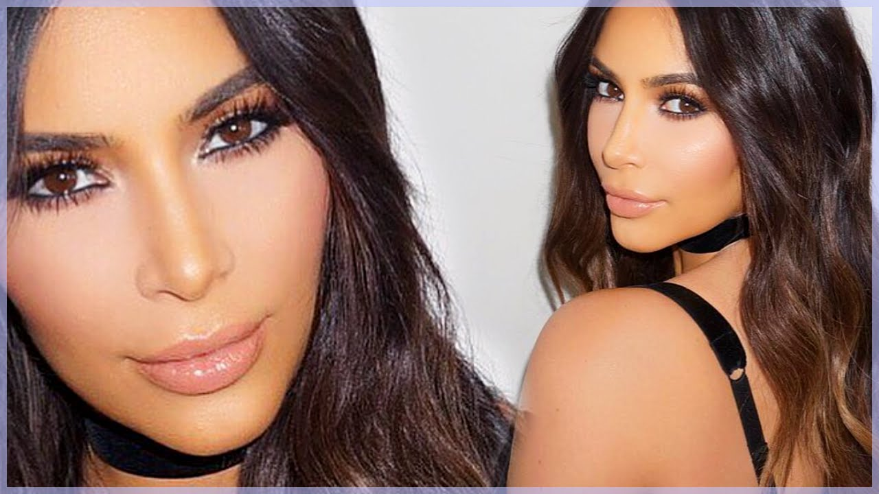 kim kardashian bronze smokey eye look sexy amp dramatic