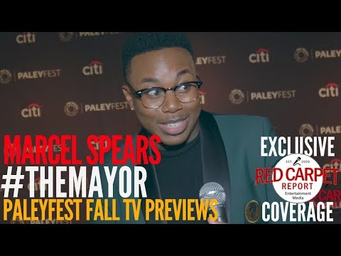 Marcel Spears #TheMayor interviewed at the ABC series 'The Mayor' preview at PaleyFest