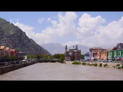Beautiful view from Kabul river and Shah-Do Shamshira Mosque