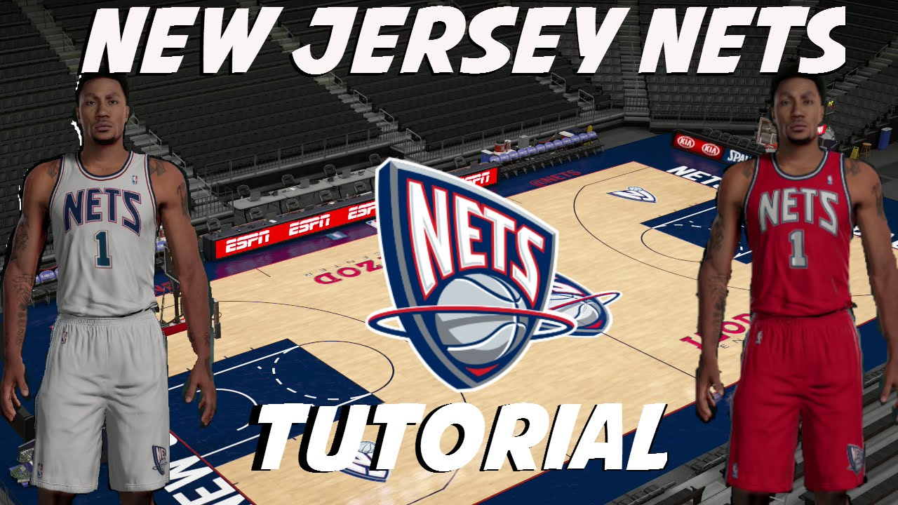 3585ad4f81d NBA 2K16  New Jersey Nets Replica Jerseys and Arena Tutorial - YouTube