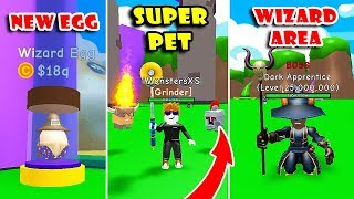 *NEW* WIZARD AREA UPDATE, NEW EGG | MEDIEVAL PETS (470t GEMS) | RPG WORLD SIMULATOR! [Roblox]