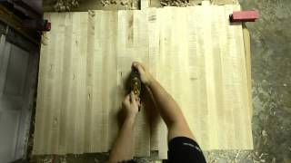 Rough planing a butcher block table