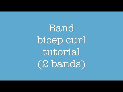 Band bicep curl tutorial (2 bands) - EBM Fitness Solutions thumbnail