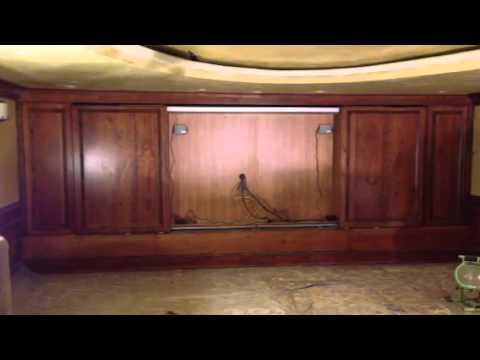 Remote cabinet doors for Entertainment center (Bortoluzzi Slides ...
