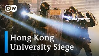Hong Kong: About 100 protesters still hold out in university siege   DW News