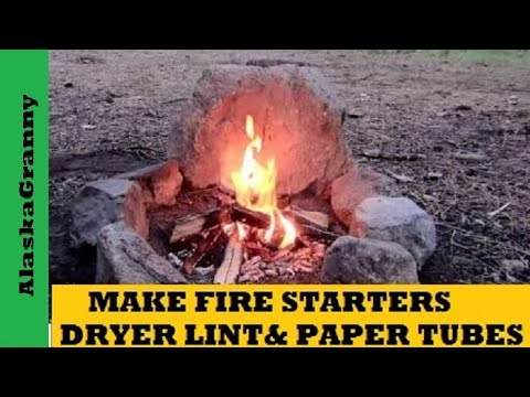Make Fire Starters With Dryer Lint and Cardboard Tubes- Easy DIY Fire Starters- DIY Survival Gear