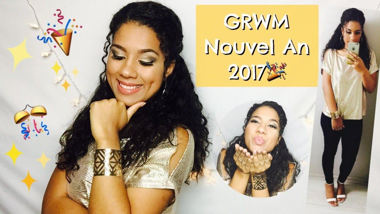 Grwm r veillon du nouvel an 2017 make up coiffure tenue compl te youtube - Coiffure nouvel an 2017 ...