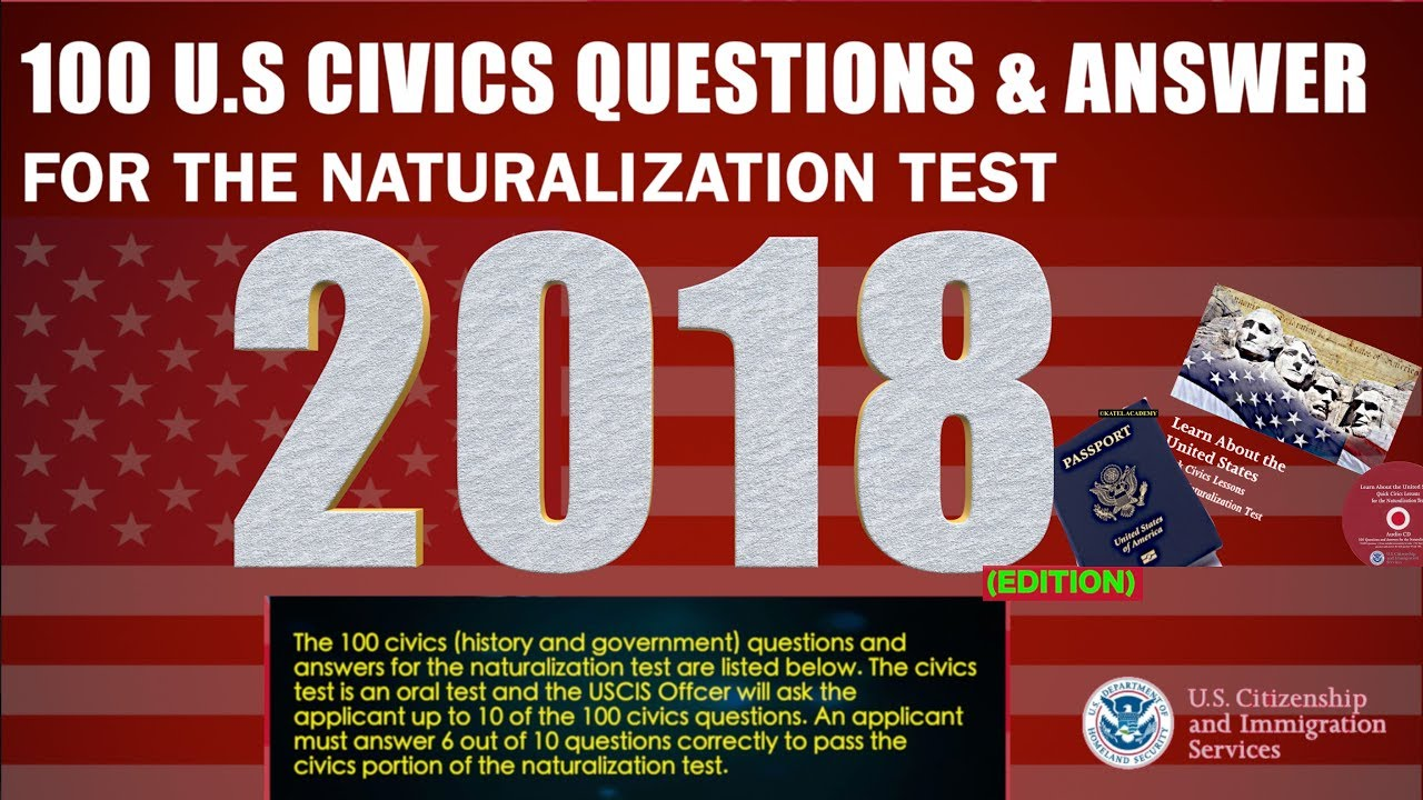 U.S. Citizenship Naturalization Test: 100 Civics Questions ...