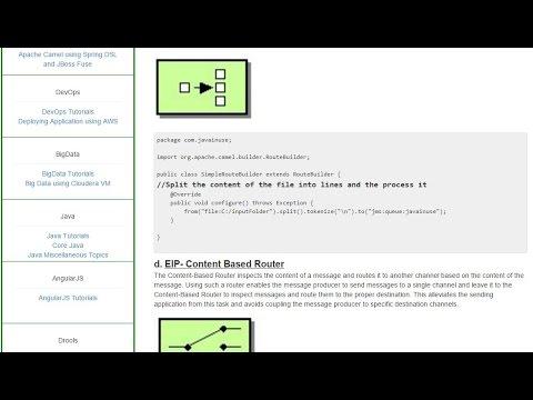 Apache Camel Tutorial-Understand EIP Patterns in Camel