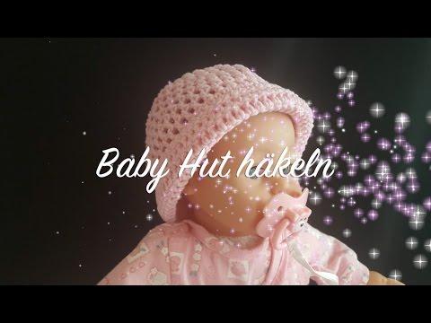 Baby Hut häkeln – Baby Mütze häkeln – Kindermütze Häkeln – Häkeln Sonnenhut