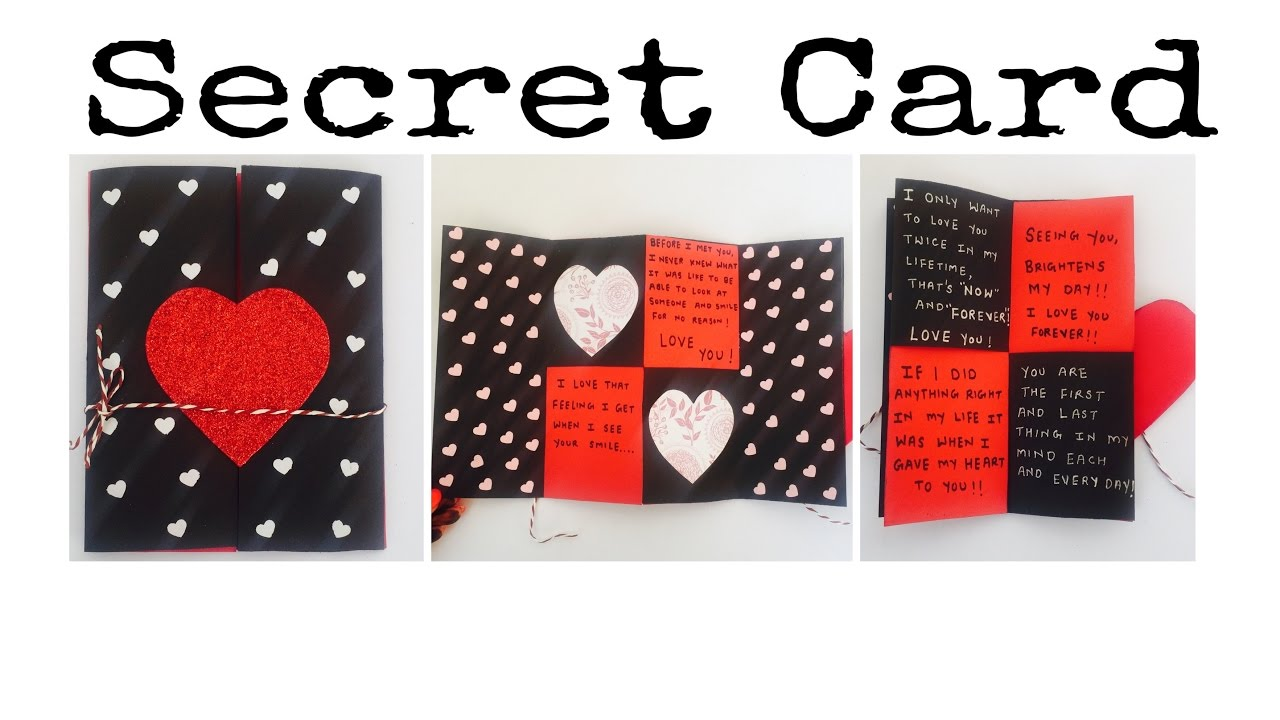 hidden message valentines day card secret message card s day card express your 6707