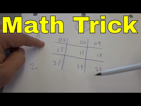 3 Times Table Trick-EASY Math Multiplication Trick