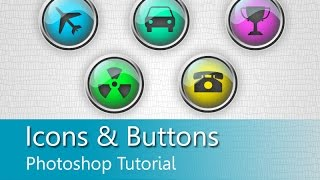 How to create attractive icons & buttons in Photoshop CC | Photoshop Tutorial