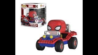 FUNKO Marvel Walgreens exclusive Spider-Man with Spider Mobile pop review