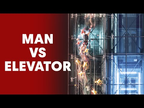 Speed Climber Races Against an Elevator And...