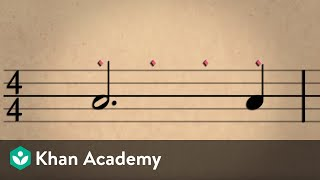 Lesson 2: Rhythm, dotted notes, ties, and rests | Music basics | Music | Khan Academy