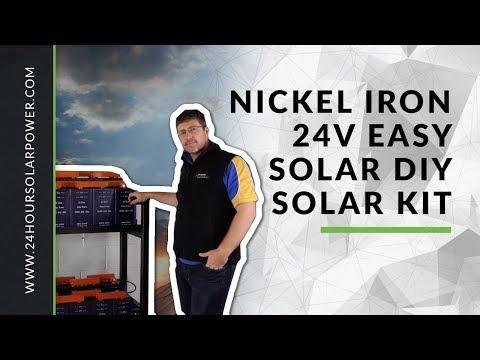 Nickel Iron 24v Easy solar DIY solar kit