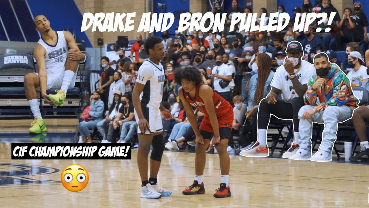 Download Drake & LeBron Watch Amari Bailey & Bronny! Centennial upsets Sierra Canyon in Championship Game!?