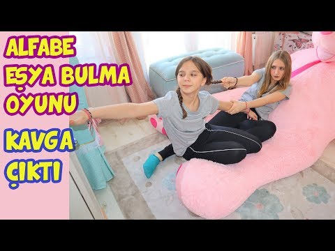ALFABE EŞYA BULMA OYUNU | KIZLAR ARASINDA KAVGA ÇIKTI | Alphabet Challenge - Eğlenceli Çocuk Videosu