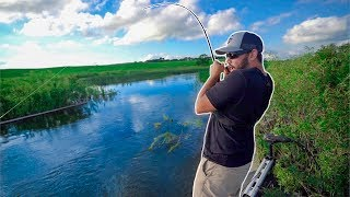 Catching GIANT Fish in TINY HIDDEN CANAL!!! (EPIC)