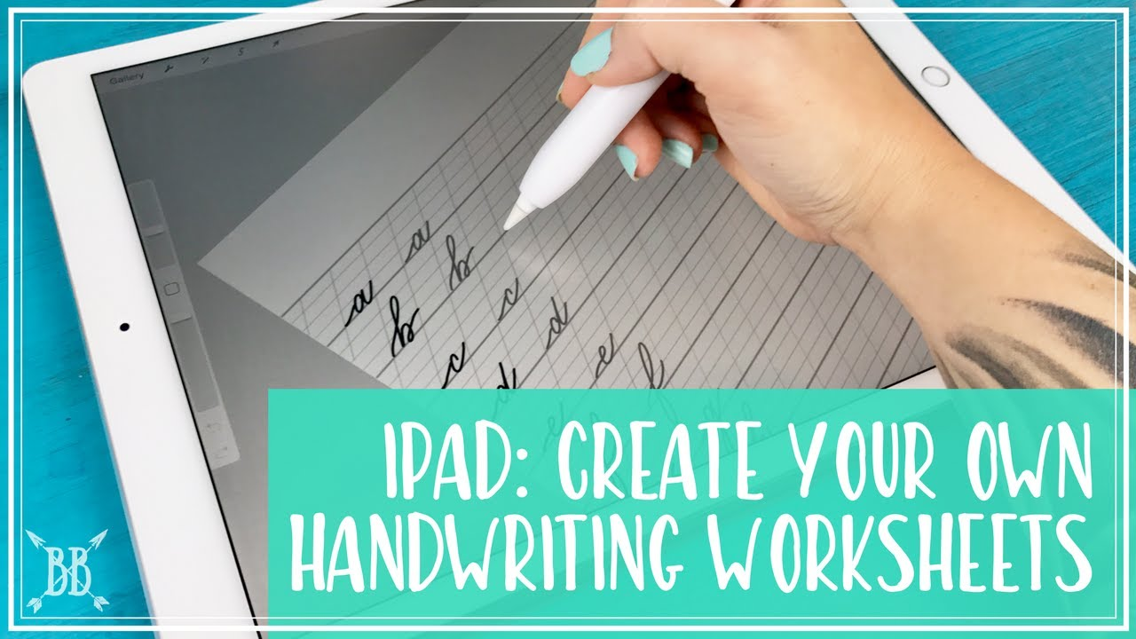 iPad Pro: Create Your Own Handwriting Worksheets! - YouTube