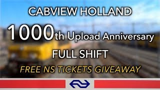 GRATIS NS TICKETS: 1000 Uploads Anniversary CABVIEW HOLLAND [FULL SHIFT] 12apr 2019