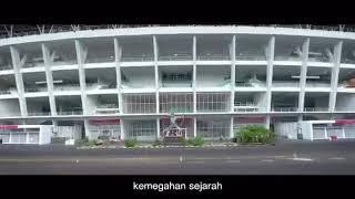 Pertandingan pertama di Gelora Bung Karno Setelah Di Renovasi. Indonesia Vs Islandia ( Iceland )