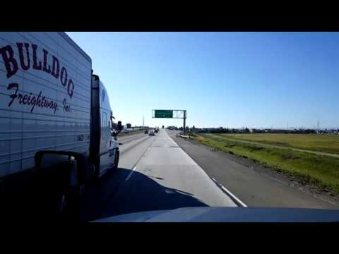 Bigrigtravels Live! Lodi, California to Lathrop Interstate 5 South