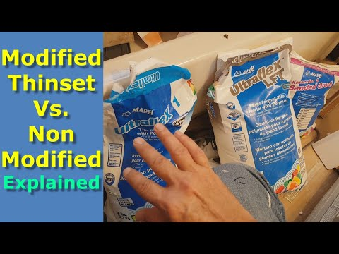 Modified Thinset vs Unmodified Thinset Explained, How to Choose Right Mortar for Tiles