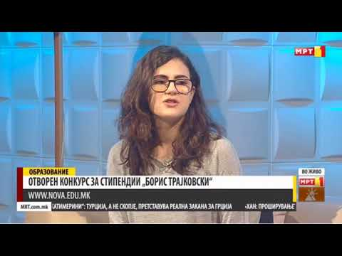 Boris Trajkovski - NOVA Scholarship Program Featured on MTV1