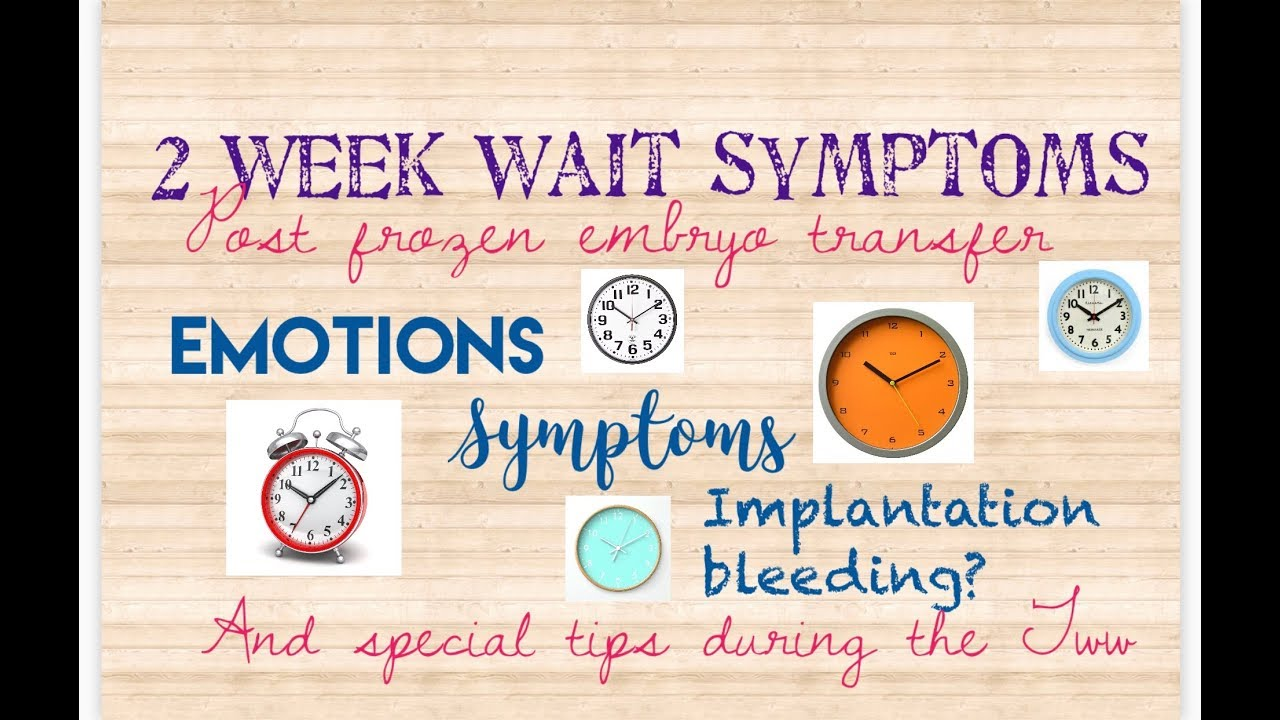 2 week wait symptoms after frozen embryo transfer/ Natural ivf @ Life IVF  Center