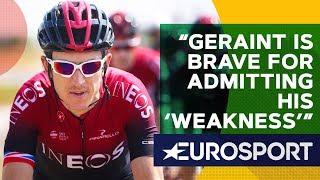 Wiggins On Geraint Thomas Admitting To Feeling 'Weak'   The Bradley Wiggins Show   Eurosport