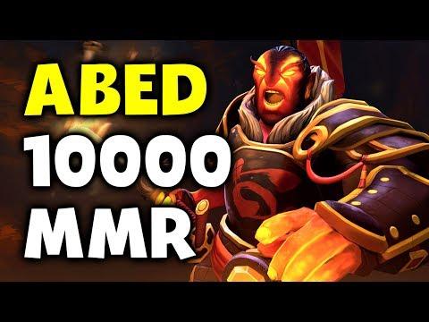 ABED 10k MMR - WORLD FIRST 10000 MMR IN HISTORY !!! DOTA 2