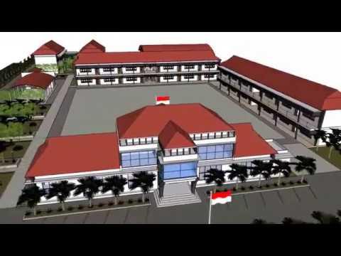 Animasi Sketchup View Desain Sekolah Youtube