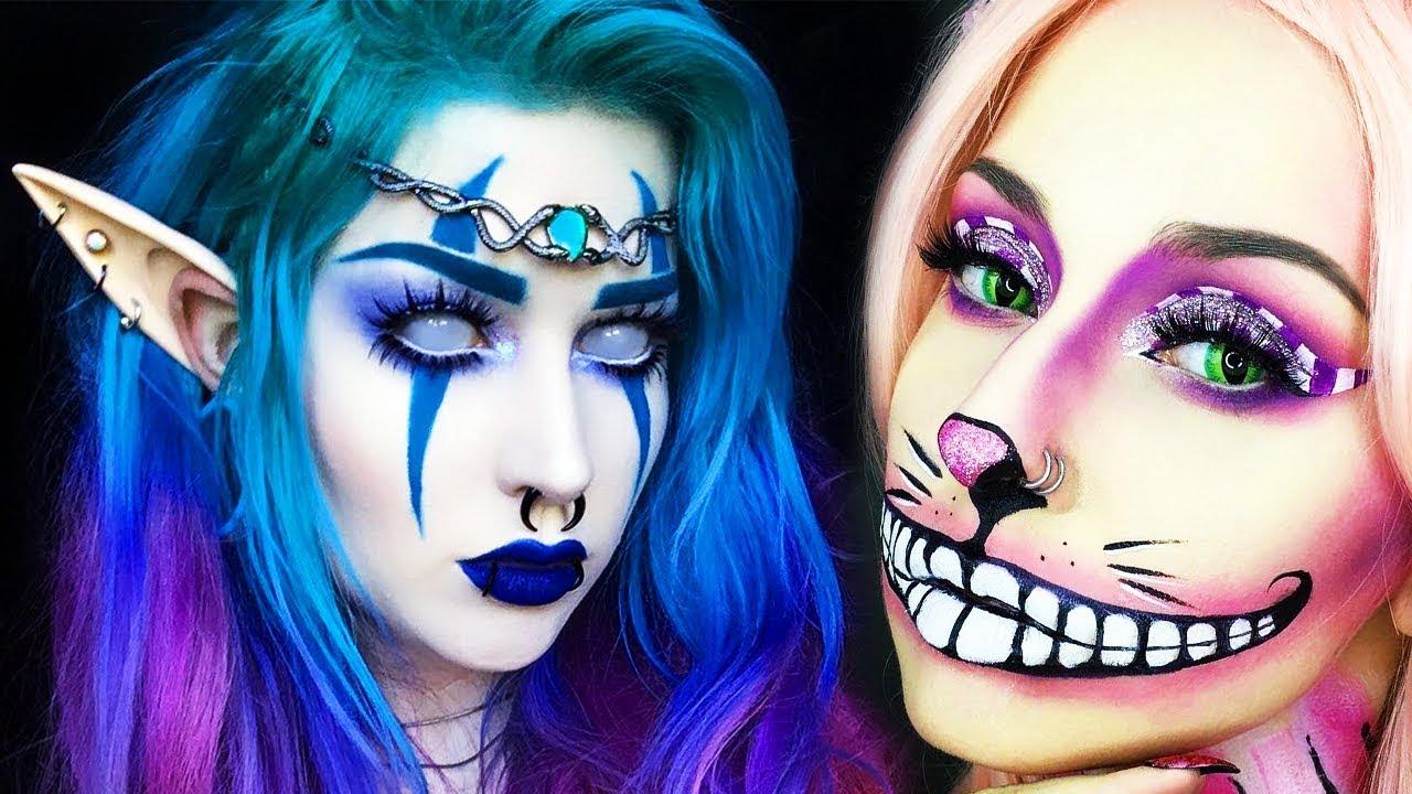 top 15 diy weird halloween makeup ideas tutorials 2018