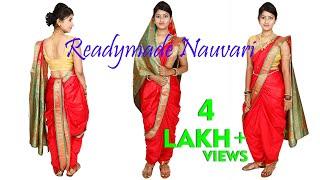 Repeat youtube video How to Make and Wear Maharashtrian Readymade Nauvari Saree