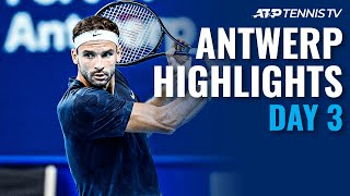 Dimitrov Battles Through; De Minaur, Humbert Impress | Antwerp 2020 Day 3 Highlights