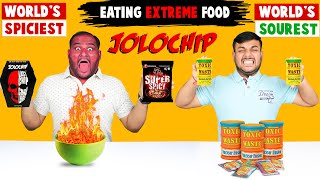 JOLOCHIP CHALLENGE | Super Spicy Korean Noodles Challenge | Sour Candy Challenge | Viwa Food World