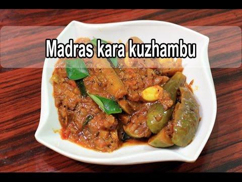 Madras kara kuzhambu   சென்னை காரக்குழம்பு