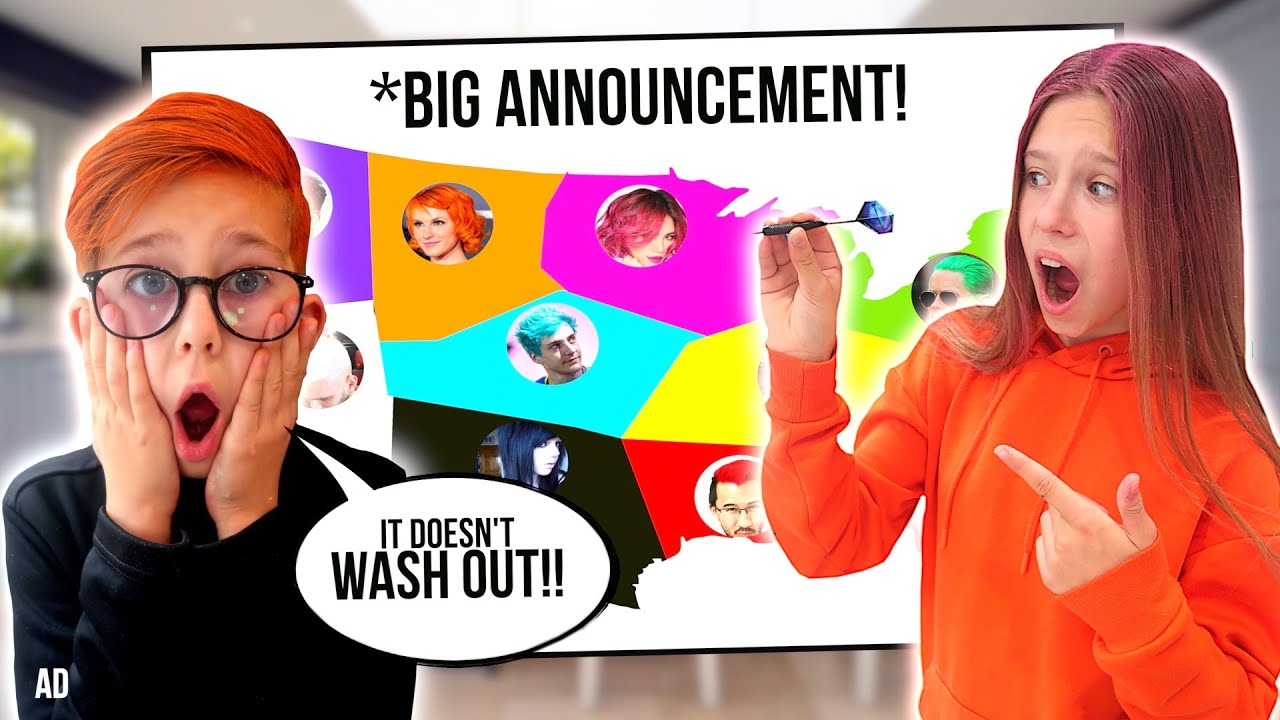 THROWING A DART AT A MAP TO CHOOSE OUR HAIR DYE COLOUR! 🙈  *BIG ANNOUNCEMENT
