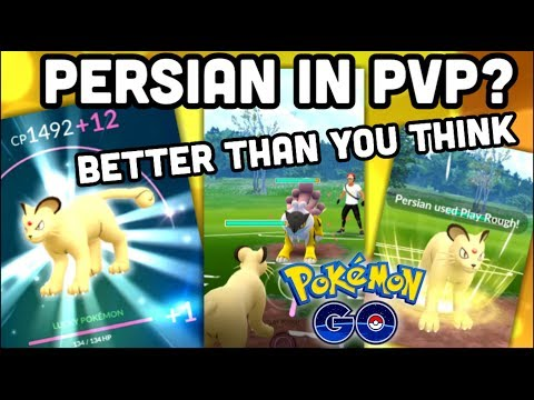 PERSIAN IN PVP BETTER THAN YOU EXPECTED IN POKEMON GO | PERSIAN POWER UP & SECOND MOVE thumbnail